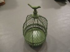 Dome Shaped Green Chicken Wire Bird Cage Hinged Top Opens