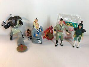 McDonalds 1998  6 Disney Mulan New/Used figures