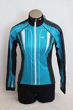 New Louis Garneau Women's Glaze 2 Cycling Long Sleeve Bike Blue Medium Jersey
