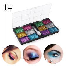 12-Color Makeup Shimmer Eyeshadow Palette Cream Eye Shadow Glitter Set Comestic