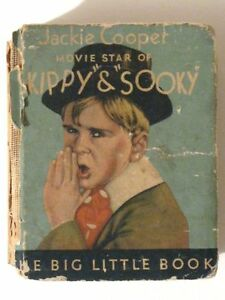Story of JACKIE COOPER! Skippy & Sooky! Vintage 1933 Big Little Book BLB 714!