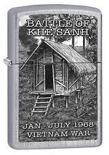 Zippo Lighter: Vietnam War, Battle of Khe Sanh - Linen Weave 77301