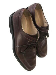 Salvatore Ferragamo Men's Dress Shoes 10 2E - Burgundy