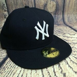 NEW Era MLB Mens Size 7 Dark Blue NY Yankees Authentic Collection 59FIFTY Fitted