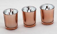 100 Copper Glass Tealight Votive Candle Holder Wedding Event Party BULK BUY