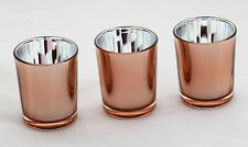 100 Rose Gold Glass Tealight Votive Candle Holder Wedding Event Party BULK BUY