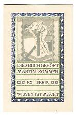 MONOGRAMMIST H.B.: Exlibris für Martin Sommer; Buchdruck, Teufel