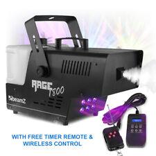 RAGE DJ Smoke Machine Fog Mist Effect LED DMX Timer & Wireless Remote 3.5L 1800W