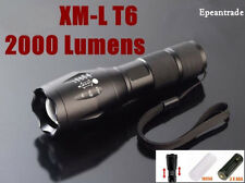 XM-L T6 2000 Lumen LED Flashlight Mini Blacklight Aluminum Torch Light Lamp Hot