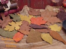 18 Primitive Autumn Leaves Cupboard Tucks Fall Ornies Harvest Filler Pattern