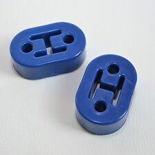 2 x PU Auspuffgummi Breite 70mm Blau universal harter Gummi