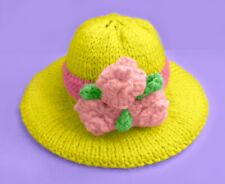 KNITTING PATTERN - Easter Bonnet chocolate orange cover / 9 cms Hat toy