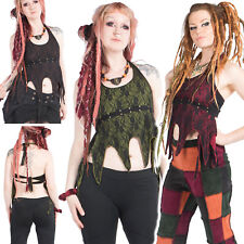 Gypsy Boho Top, Psy Trance Clothing, Backless Pixie Top, Festival Clothing