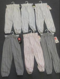 NEW! Wilson A4208 Youth Pro Pinstripe Baseball Softball Belted Knicker Pants