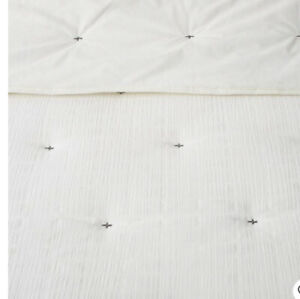 Hearth & Hand X Pattern Sour Cream Dark X Pattern King Comforter Shams Set  Nwot