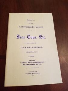 1843 EARLY J&E STEVENS TOY CATALOG STILL BANKS, SAFES MECHANICAL BANK BOOK OOP