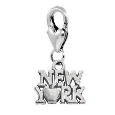 New York City Big Apple NY Manhattan Trip Lobster Clip Dangle Charm for Bracelet