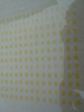 MECANORMA LETTER-PRESS TRANSFERS (Semi transparent yellow) NUMBERS 3mm