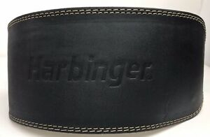 Harbinger Weight Lifting Belt - Padded - Black - Size Large With Double Buckle -