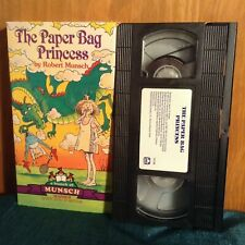 Rare VHS ~ The Paper Bag Princess by Robert Munsch ~ Video & Mini Story Book