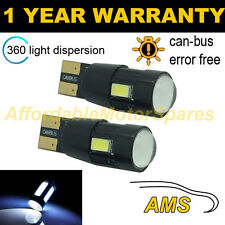 2x W5w T10 501 Canbus Error Free Blanco 6 Smd Led sidelight bombillas Brillante sl104205