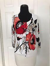 WHBM Poppy Cardigan 3/4 Length  Sleeve  Size S NEW