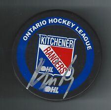 Jakub Kindl Signed Kitchener Rangers Puck Detroit Red Wings Florida Panthers