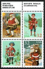USA Sc. 3007a 32c Christmas 1995 MNH block of 4