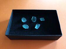 Brilliant bright blue natural Apatite rough crystals loose 10+ carats lot 🦋