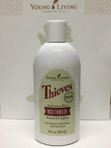 New Young Living Essential Oil Infused Thieves Fresh Essence Plus Mouthwash 8 oz