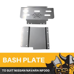 Nissan Navara NP300 Bash Plate, 2pce Sump Guard Set 4MM Silver