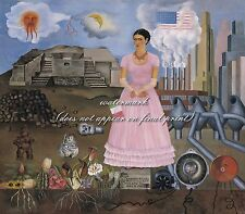 """Frida Kahlo Poster or Canvas Print """"Borderline Between Mexico And The Usa"""""""