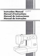 Brother LS1217 LS1217B Sewing Machine Users Guide Owners Instruction Manual Book