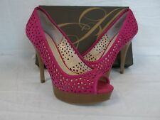 Enzo Angiolini Size 10 M Sully Dark Pink Suede Heels New Womens Shoes