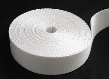 """1 1/2 Inch White Heavy Nylon Webbing 5 yards ( 1.5"""" width nylon ) BRAND NEW"""