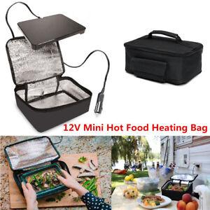 Car Portable 12V Electric Oven Mini Hot Food Tote Heating Bag Fit Picnic Camping