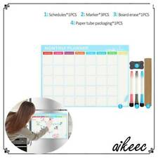 Magnetic WEEKLY/MONTHLY Planner Whiteboard Fridge Calendar + Markers Erase NEW t