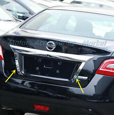 S.Steel Chrome Rear Trunk License Plate Trim for Nissan Altima 2013 2014 2015