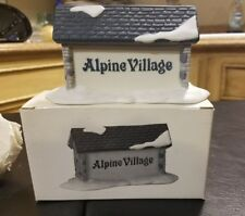 "Dept 56 Alpine Village ""Alpine Village Sign"" - #65714 -"