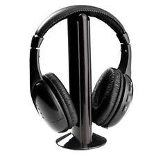 5-in-1 Wireless Headphone Headset Earphone PC TV Built-In Microphone & FM Radio