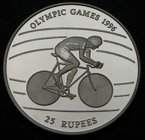 SEYCHELLES 25 Rupees 1995 Proof - Silver - 1996 Olympic Games - 821