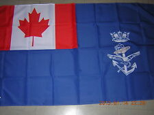 100% NEW reproduced Flag of the Naval Auxiliary Jack of Canada Blue Ensign 3X5ft