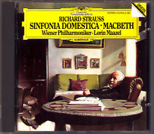 MAAZEL Richard STRAUSS Sinfonia Domestica Macbeth DG CD Wiener Philharmoniker