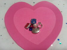 POLICE RING FAITH HUSBAND LOT LIVING MEMORY GLASS LOCKET FLOATING CHARMS #163