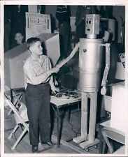 Vintage 5 foot tall Robot Building Plans with Photo of Boy at Science Fair