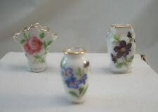 Vase Set Porcelain 1.616/8 miniature dollhouse furniture 1/12 scale Reutter