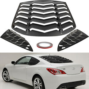 Rear & Side Window Louvers for Hyundai Genesis Coupe 2010-2016 Sun Shade Cover