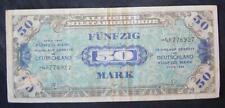 Biljet Duitsland: 50 MARK Alliierte Miltärbehörde 1944 in gebruikte staat