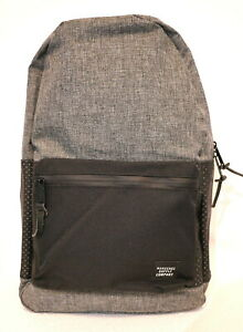 HERSCHEL SUPPLY SETTLEMENT ASPECT 23L (GREY/BLACK) LARGE BACKPACK NEW w/TAGS!!