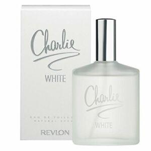2 x REVLON CHARLIE EDT EAU DE TOILETTE  WHITE PERFUME NATURAL SPRAY (2x100ML)